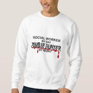 Cazador del zombi del asistente social sudaderas encapuchadas