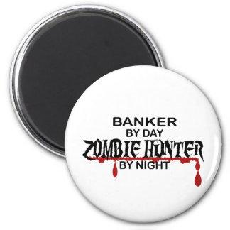 Cazador del zombi del banquero imanes de nevera