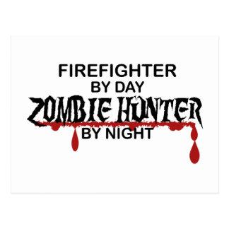 Cazador del zombi del bombero tarjetas postales