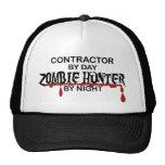 Cazador del zombi del contratista gorras de camionero