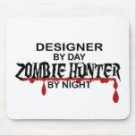 Cazador del zombi del diseñador tapete de ratón