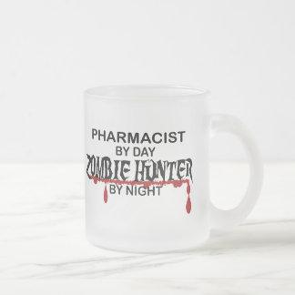 Cazador del zombi del farmacéutico taza de cristal