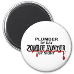 Cazador del zombi del fontanero imanes de nevera