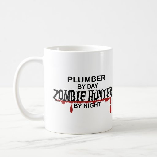 Cazador del zombi del fontanero taza de café