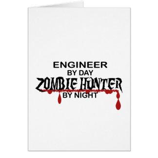 Cazador del zombi del ingeniero tarjeta de felicitación