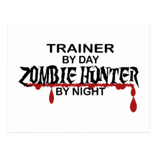 Cazador del zombi del instructor tarjetas postales