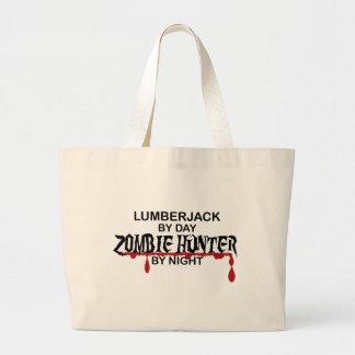 Cazador del zombi del leñador bolsa tela grande