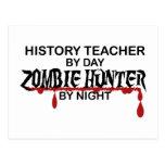 Cazador del zombi del profesor de la historia tarjeta postal