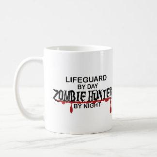 Cazador del zombi del salvavidas taza de café
