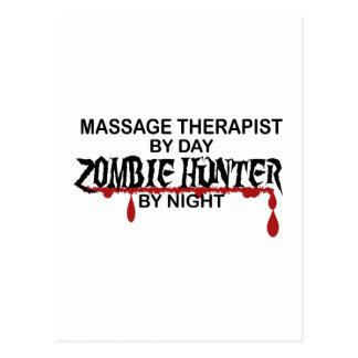 Cazador del zombi del terapeuta del masaje tarjetas postales