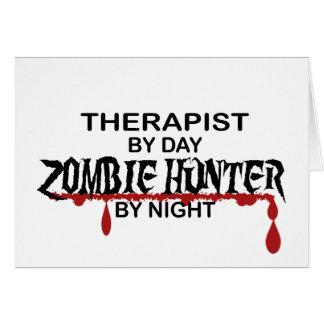 Cazador del zombi del terapeuta tarjeta de felicitación