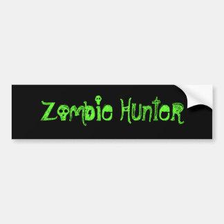 Cazador del zombi etiqueta de parachoque