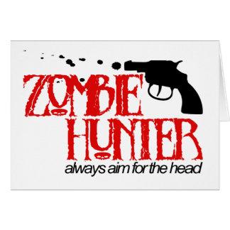 Cazador del zombi felicitacion