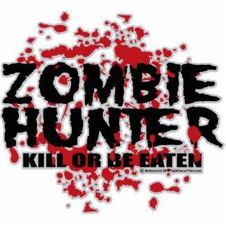 Cazador del zombi fotoescultura vertical