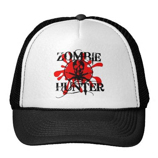 Cazador del zombi gorras de camionero