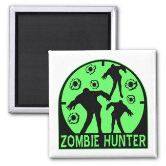 Cazador del zombi imán cuadrado