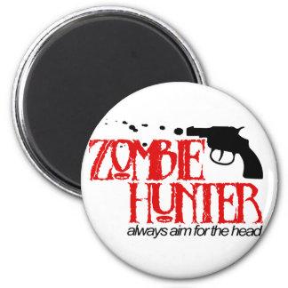 Cazador del zombi imán redondo 5 cm