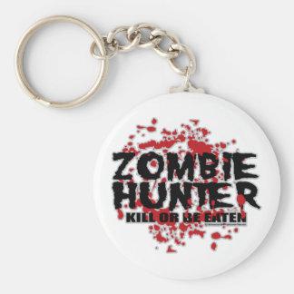Cazador del zombi llavero redondo tipo pin