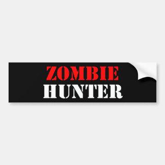 Cazador del zombi pegatina de parachoque