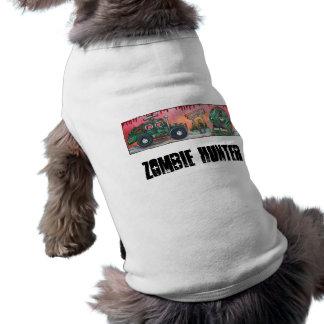 Cazador del zombi playera sin mangas para perro