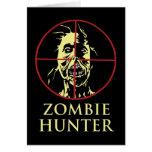 Cazador del zombi tarjetas