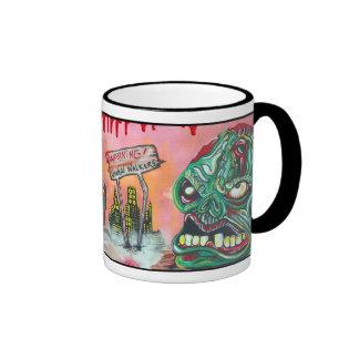 Cazador del zombi tazas de café