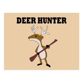 Cazador divertido de los ciervos tarjetas postales