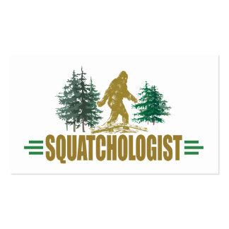 Cazador divertido de Sasquatch Tarjetas De Visita
