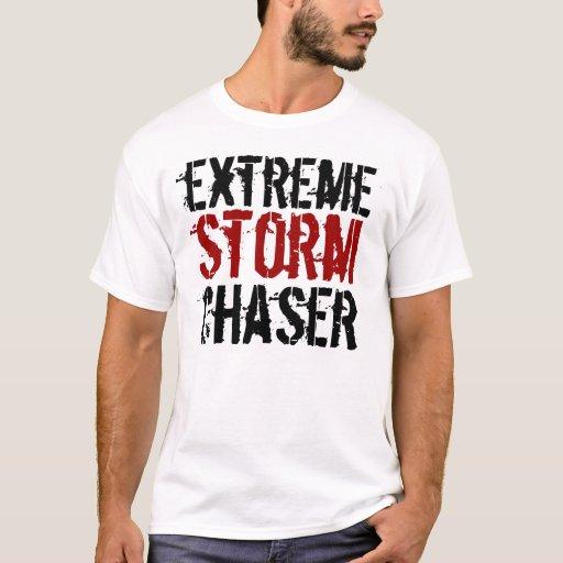 Cazador extremo de la tormenta, tornados, playera