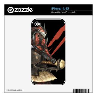 Cazador femenino con el hacha del interruptor, arm calcomanías para iPhone 4S