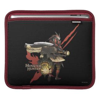 Cazador femenino con el hacha del interruptor, arm funda para iPads