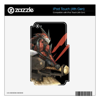 Cazador femenino con el hacha del interruptor, arm iPod touch 4G skin