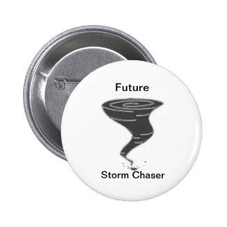 Cazador futuro de la tormenta - botón pin redondo de 2 pulgadas