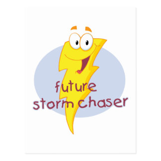 Cazador futuro de la tormenta tarjetas postales