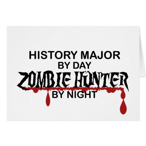 Cazador importante del zombi de la historia tarjetas