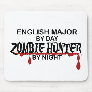 Cazador importante inglés del zombi mouse pads
