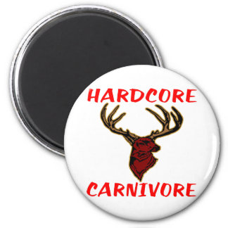 Cazador incondicional de los ciervos del carnívoro iman para frigorífico