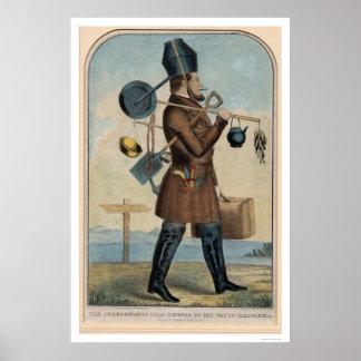 Cazador independiente del oro en su manera a Calif Posters