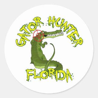 Cazador la Florida del cocodrilo Etiqueta Redonda