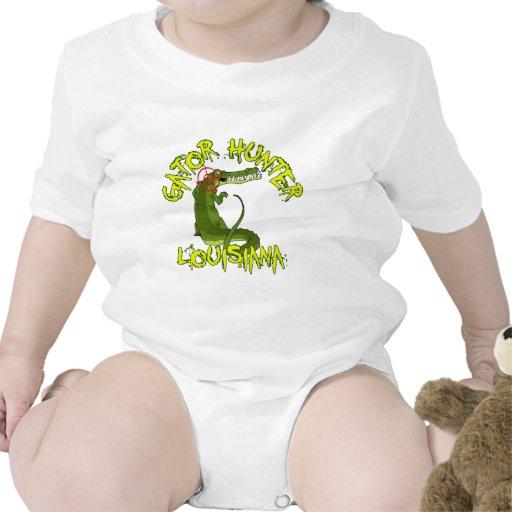 Cazador Luisiana del cocodrilo Camiseta
