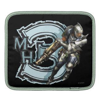 Cazador masculino con Bowgun, armadura de acero Funda Para iPads