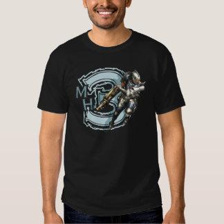 Cazador masculino con Bowgun, armadura de acero Playeras