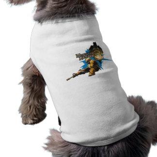 Cazador masculino con Bowgun, artillero pesado con Camisetas De Mascota
