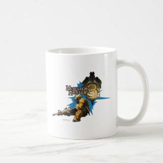 Cazador masculino con Bowgun, artillero pesado con Taza De Café