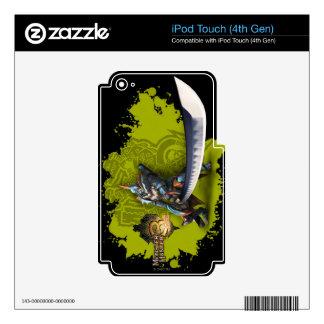 Cazador masculino con la espada y la armadura larg calcomanías para iPod touch 4G