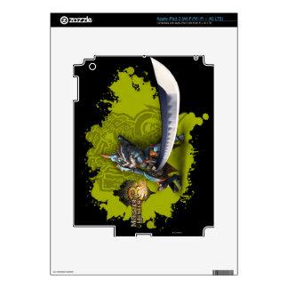 Cazador masculino con la espada y la armadura larg iPad 3 skins