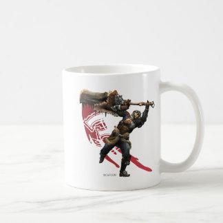 Cazador masculino con la gran armadura de la taza clásica