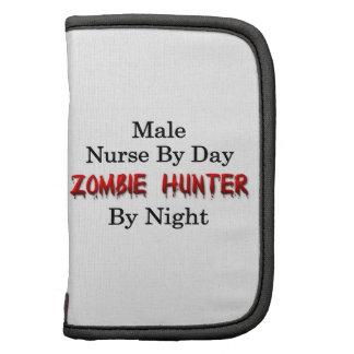 Cazador masculino de la enfermera del zombi organizadores