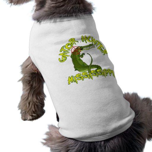 Cazador Mississippi del cocodrilo Camisetas De Mascota