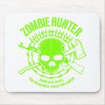 Cazador Mousepad del zombi Tapete De Ratón